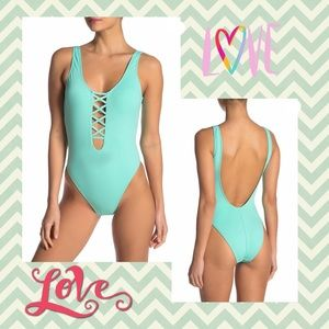 (K) THE BIKINI LAB▪️Mint Green One Piece Swimsuit